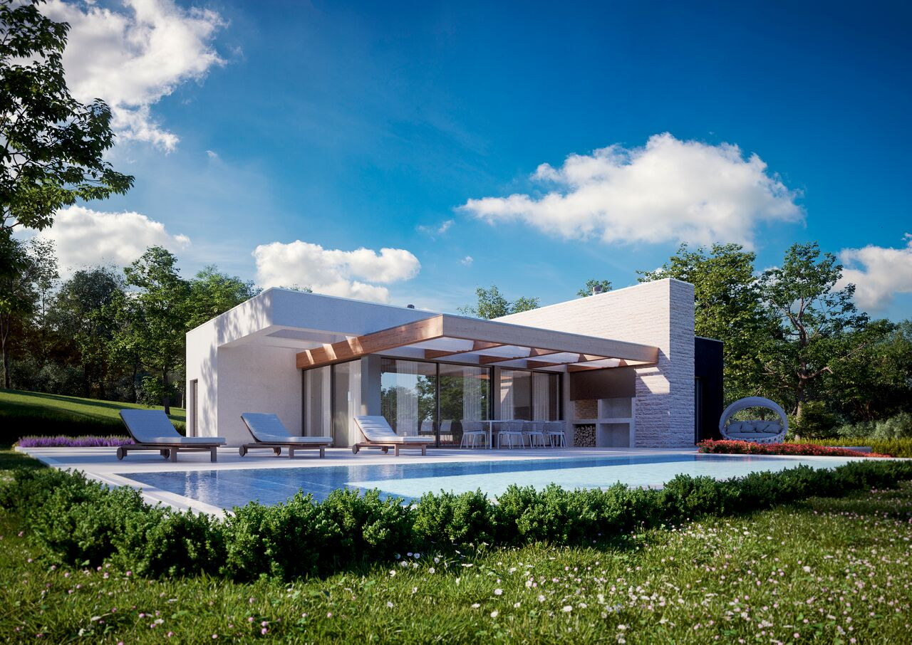 Z-450  Exclusive resort with modern villas on an area of ​​25,000 m² in an oak forest.